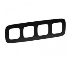 Рамка четырехместная Valena Allure (Матовый черный)