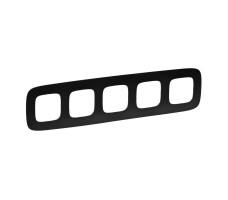 Рамка пятиместная Valena Allure (Матовый черный)
