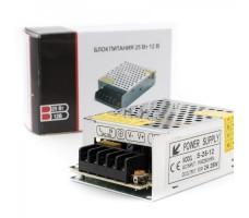 Блок питания для светодиодной ленты 12В, 25Вт, 2А, IP20, корпус из перфорированного металла
