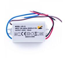 Блок питания для светодиодной ленты 12В, 0,42А, 5Вт, IP67, герметичный в пластиковом корпусе