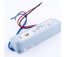 Блок питания для светодиодной ленты 12В, 5А, 60Вт, IP67, герметичный в пластиковом корпусе