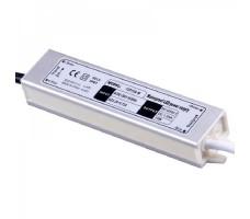 Блок питания для светодиодной ленты 12В, 1,25А, 15Вт, IP67, герметичный в металлическом корпусе