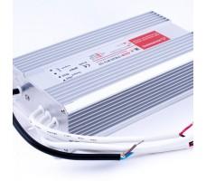 Блок питания для светодиодной ленты 12В, 25А, 300Вт, IP67, герметичный в металлическом корпусе
