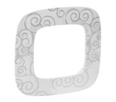 Рамка одноместная Valena Allure (Нарцисс хром)