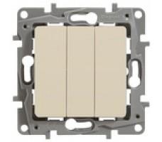 Legrand  Etika Plus выключатель трехклавишный (слоновая кость)