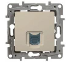 Legrand Etika компьютерная розетка RJ45 кат 6 (слоновая кость)