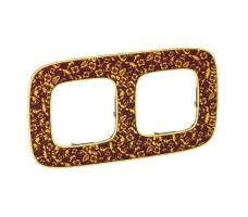 Рамка двухместная Valena Allure (Барокко Пурпур)