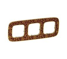 Рамка трехместная Valena Allure (Барокко Пурпур)