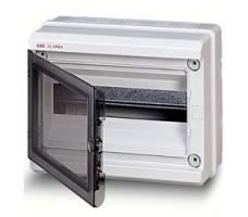 Бокс настенный 18М IP65 с прозрачной дверцей серый