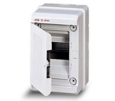 Бокс настенный 4М IP65 с дверцей серый