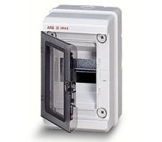 Бокс настенный 4М IP65 с прозрачной дверцей серый