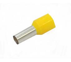Наконечник штыревой втулочный изолированный жёлтый
