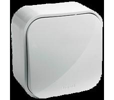 Выключатель одноклавишный проходной IP20 белый Legrand Quteo