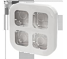 Рамка для наклад. монтажа 4-постовая IP20 белая Legrand Quteo