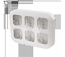 Рамка для накладного монтажа 6-постовая белая IP20 Legrand Quteo