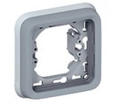 Legrand Plexo рамка для встроенного монтажа с суппортом пост (цвет серый)