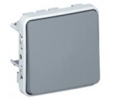 Legrand Plexo переключатель одноклавишный IP55 (цвет серый)