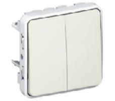 Legrand Plexo переключатель двухклавишный IP55 (цвет белый)