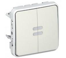 Legrand Plexo переключатель с подсветкой двухкл. IP55 (цвет белый)