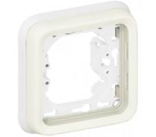 Legrand Plexo рамка для встроенного монтажа с суппортом  пост (белая)