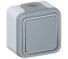 Legrand Plexo вывод кабеля 10A, IP55 (цвет серый)