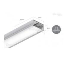 Профиль для светодиодной ленты прямоугольный встраиваемый LE8832