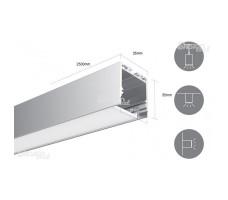 Профиль для светодиодной ленты прямоугольный подвесной LS3535