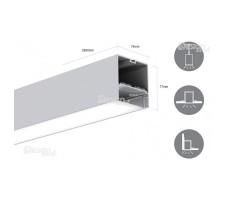 Профиль для светодиодной ленты прямоугольный подвесной LS7477