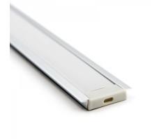 Профиль для светодиодной ленты прямоугольный встраиваемый 2м 3006х2