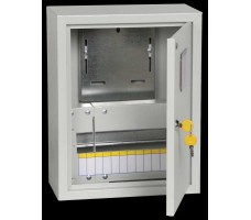 Щит учетно-распределительный навесной ЩУРн-1/12зо IP31 замок окно