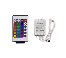 Контроллер для светодиодной ленты rgb IR с пультом 24 кнопок 12/24в 6А