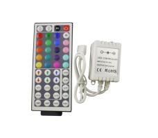Контроллер для светодиодной ленты rgb IR с пультом 44 кнопки 12/24в 6А