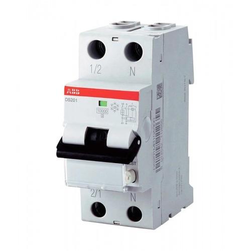 Выключатель автоматический дифференциальный (АВДТ) DS201 1п 10А 30мА C AC (DS201 C10 AC30)