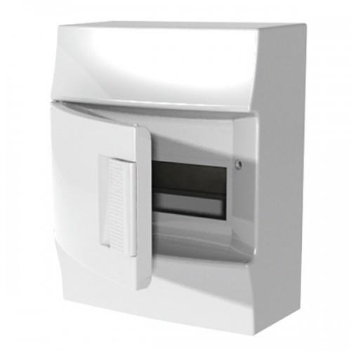 Щит распределительный навесной ЩРн-п Mistral41 8М пластиковый непрозрачная дверь с клеммами