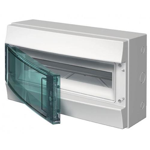 Щит распределительный навесной ЩРн-П 18М пластиковый прозрачная дверь IP65 серый Mistral65 без клемм