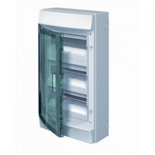 Щит распределительный навесной ЩРн-П-54 пластиковый прозрачная дверь IP65 серый Mistral65 без клемм