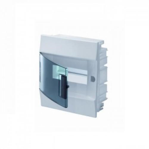 Щит распределительный встраиваемый ЩРв-п Mistral41 8М пластиковый прозрачная дверь с клеммами