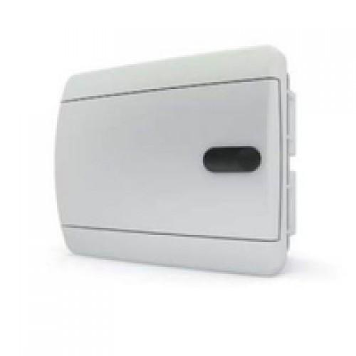 Tekfor бокс встраиваемый 8 мод. IP41, непрозрачная белая дверца