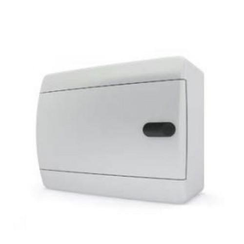 Tekfor бокс навесной 8 мод. IP41, непрозрачная белая дверца