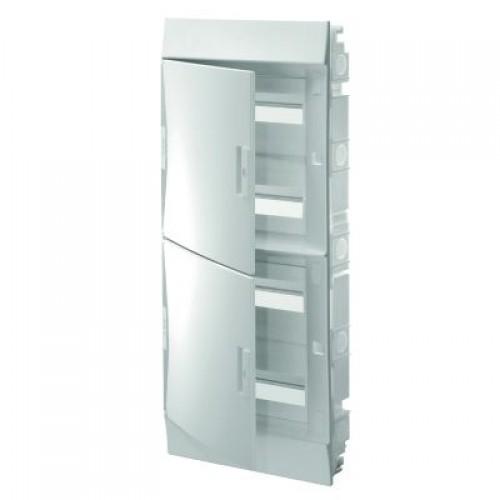 Щит распределительный встраиваемый ЩРв-п Mistral41 72М пластиковый непрозрачная дверь с клеммами
