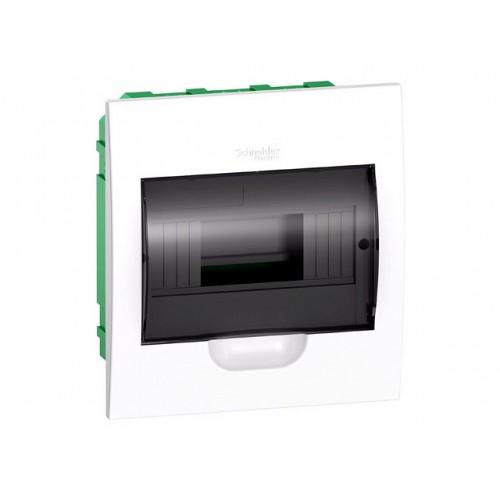 Щит распределительный встраиваемый белый дверь прозрачная на 8 модулей IP40 Easy9