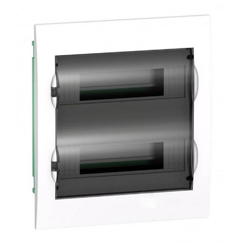Щит распределительный встраиваемый белый дверь прозрачная на 24 модуля IP40 Easy9