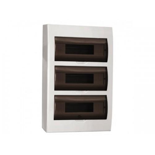 Щит распределительный навесной ЩРн-П-36 IP41 пластиковый белый прозрачная дверь
