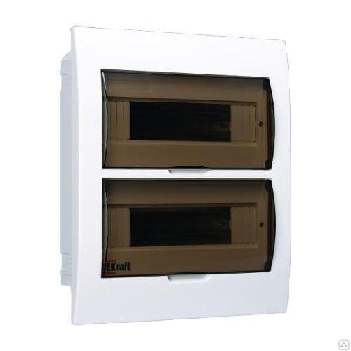 Щит распределительный встраиваемый ЩРВ-П-24 IP41 пластиковый прозрачная дверь