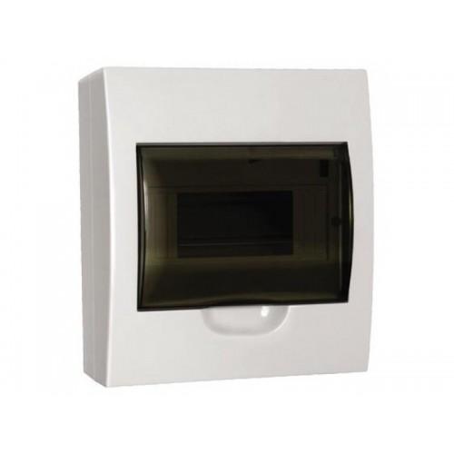 Щит распределительный встраиваемый ЩРв-П-8 IP41 пластиковый белый прозрачная дверь