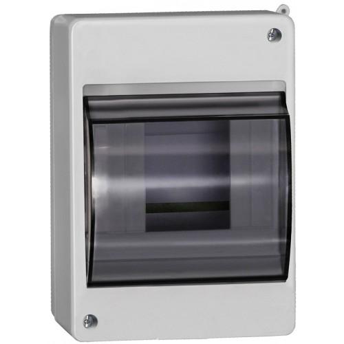 Щит распределительный навесной ЩРн-П-4 IP30 пластиковый белый прозрачная дверь КМПн 2/4