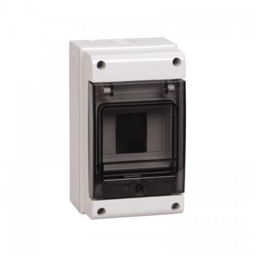 Щит распределительный навесной ЩРн-П-4 IP66 пластиковый белый прозрачная дверь КМПн 1/4