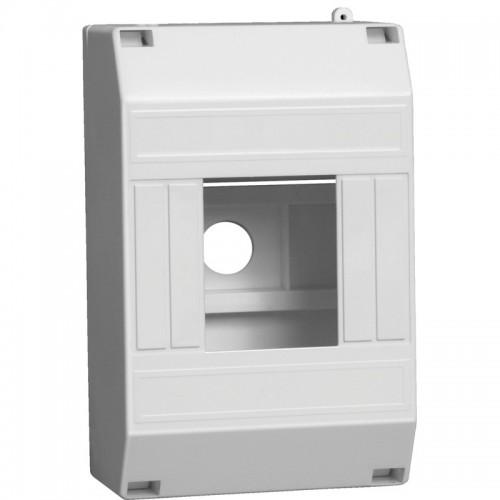 Щит распределительный навесной ЩРн-П-4 IP30 пластиковый белый без двери КМПн 1/4