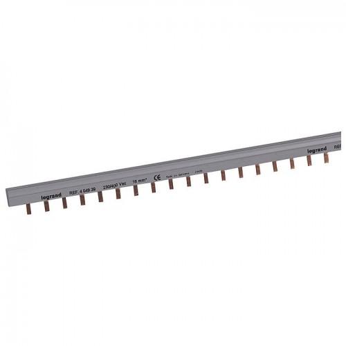 Шина гребенчатая 4п 56 модулей 16мм.кв зубья