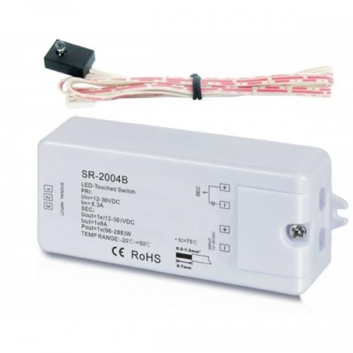Выключатель, сенсорный датчик реагирующий на касание с функцией диммирования 12-24V SR-2004B Led-ball dimmer